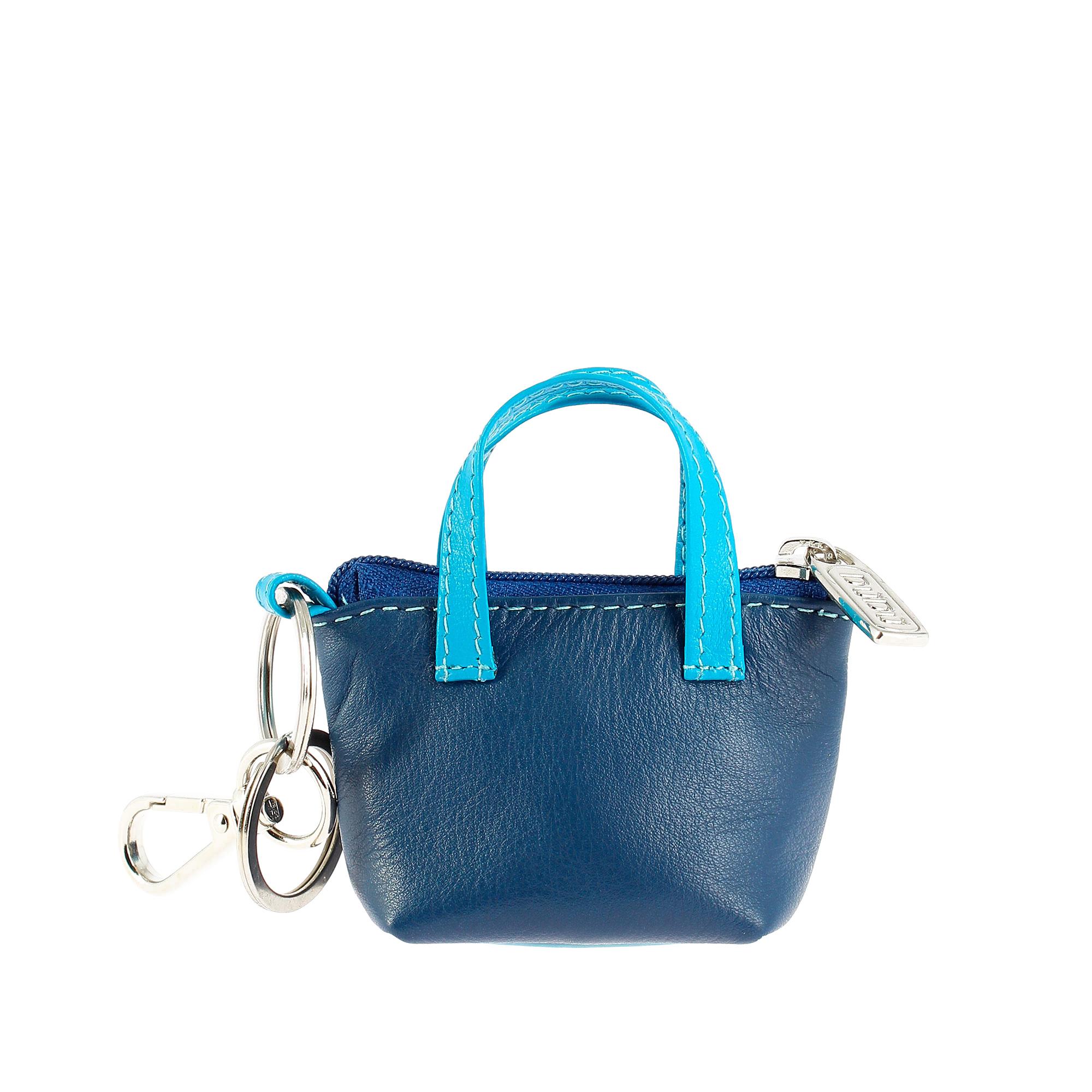 b7b5589d98 DUDU Porte-clés à Petit sac Porte-monnaie en Cuir coloré avec ...