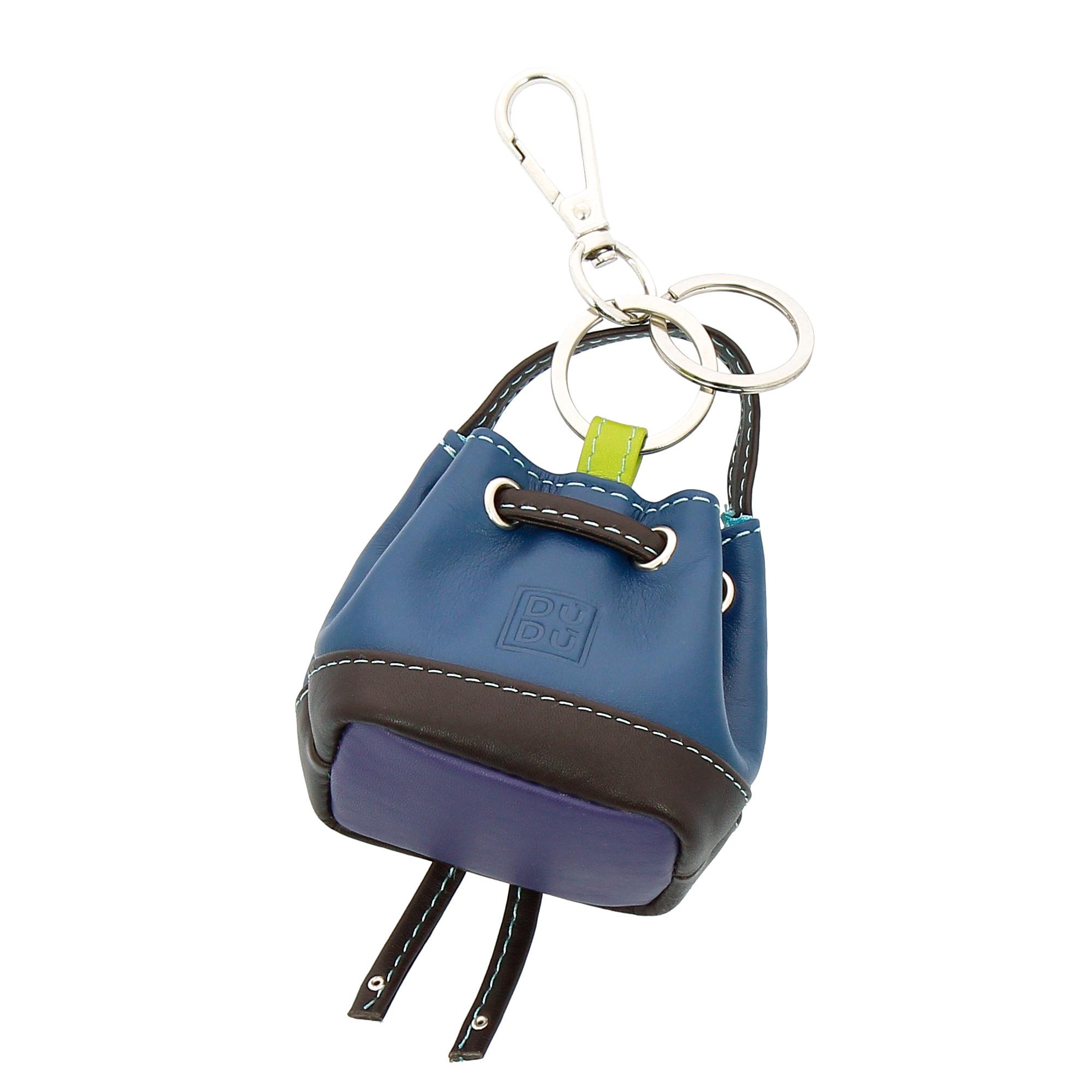 bd92884950 DUDU Porte-clés Porte-monnaie à Sac seau en Cuir coloré avec ...