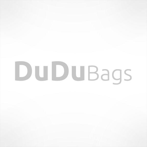 Large satchel leather handbag with shoulder strap