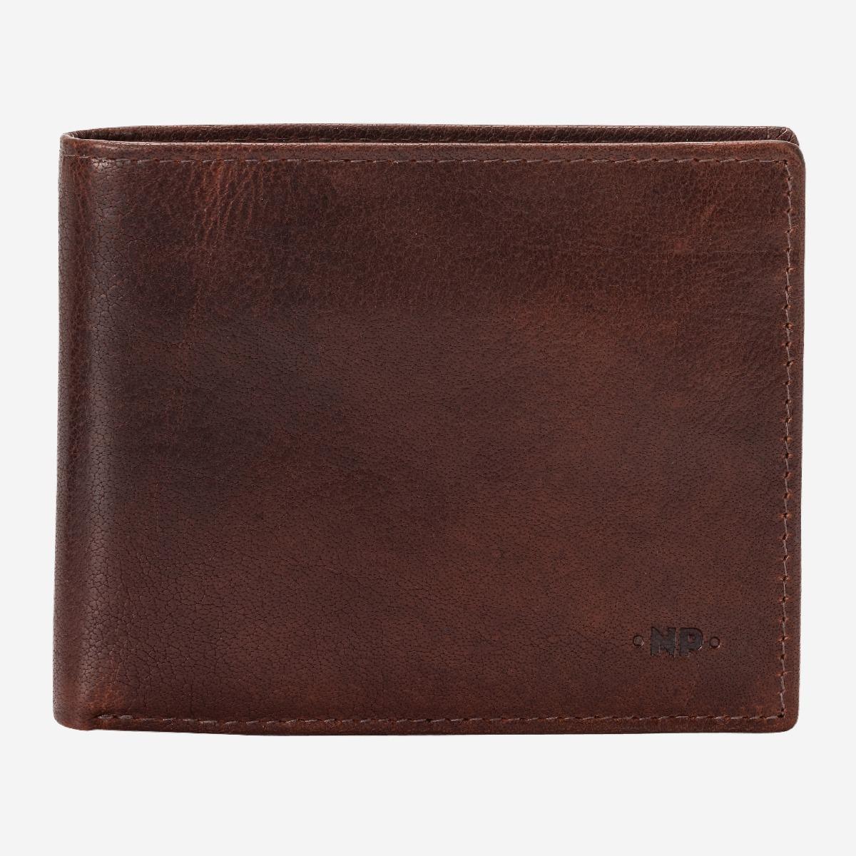 zip int DV Portafoglio uomo verticale pelle MARRONE S porta carte portamonete