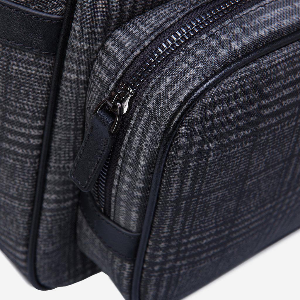 gro er herrenrucksack aus leder und schottischem tartan der marke gear band schw ebay. Black Bedroom Furniture Sets. Home Design Ideas